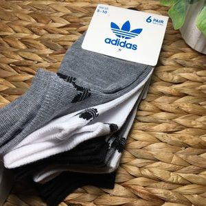 🆕 Adidias Womens No Show Socks 6 Pairs